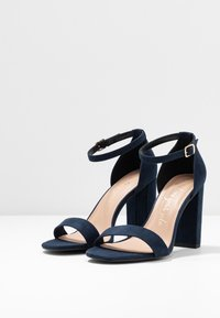 New Look Wide Fit - WIDE FIT VARONA - High heeled sandals - dark blue - 4