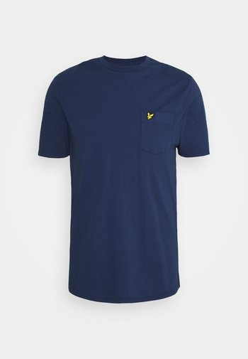 WASHED POCKET - T-shirt - bas - navy