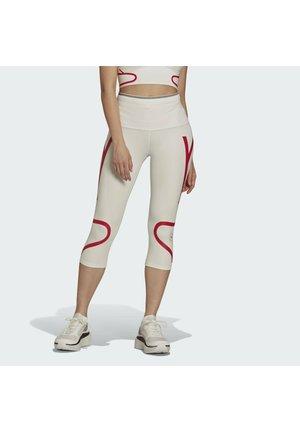 Leggings - white/red