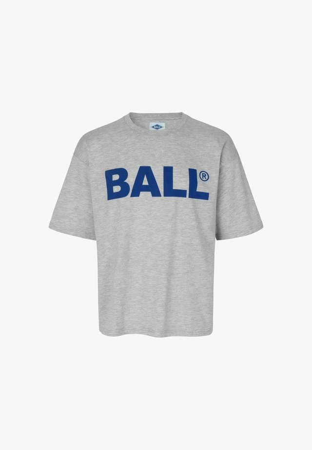 TEE - T-shirts med print - melange grey