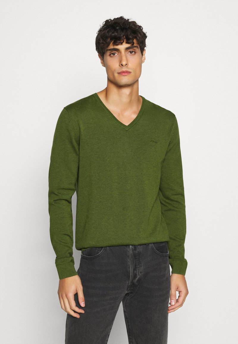 s.Oliver - Strickpullover - khaki/oliv