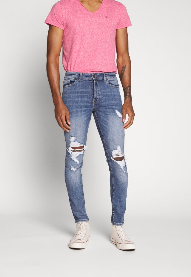 RIPPED EPPING - Jeans Skinny Fit - mid blue