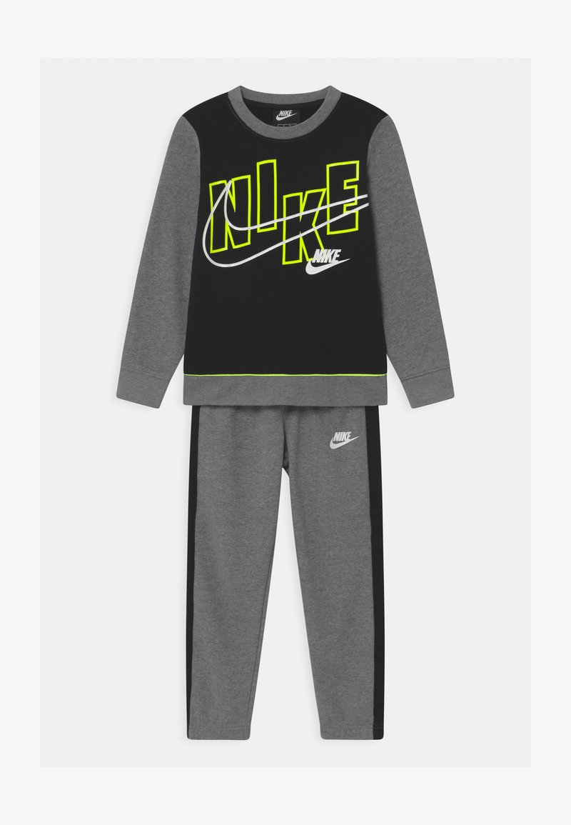 Nike Sportswear - COLOR BLOCK CREW SET - Trainingsanzug - carbon heather