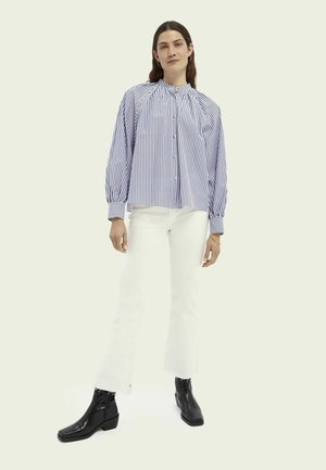 THE KICK SUMMER  - Flared jeans - summer white
