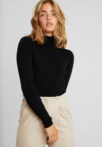 ONLY - ONLVENICE ROLLNECK - Neule - black - 0