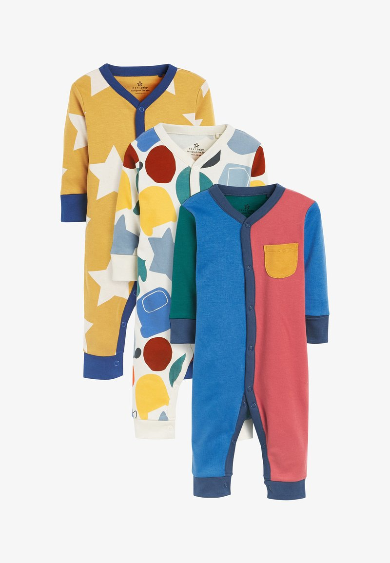 Next - 3 PACK COLOURBLOCK FOOTLESS SLEEPSUITS - Sleep suit - blue