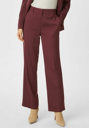 Trousers - bordeaux