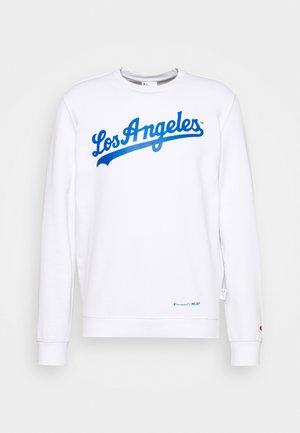 MLB LA DODGERS CREWNECK - Klubbkläder - white