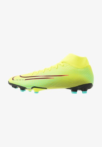 MERCURIAL 7 ACADEMY MDS FG/MG - Moulded stud football boots - lemon/black/aurora green