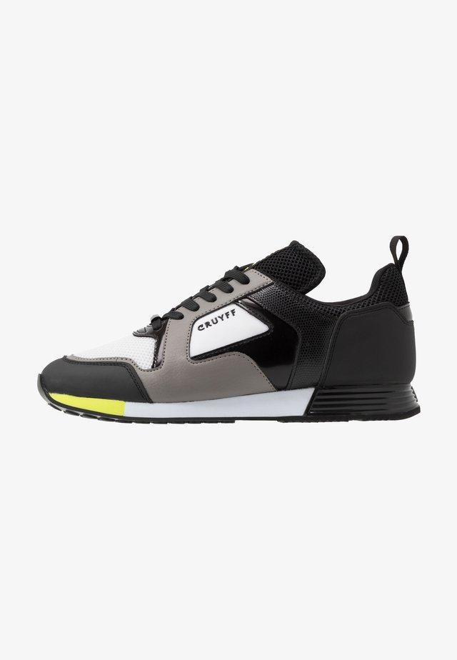 LUSSO - Sneakers - dark grey/fluo yellow