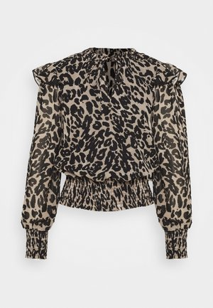 SHIRRED LEOPARD  - Long sleeved top - multi