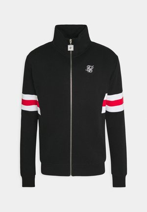 ZIP THROUGH FUNNEL NECK - Zip-up hoodie - black/white/red
