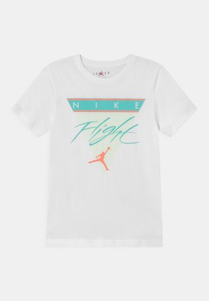 FLIGHT HISTORY TEE UNISEX - Print T-shirt - white