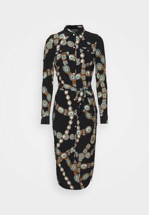 DOANE LONG SLEEVE - Shirt dress - polo black multi
