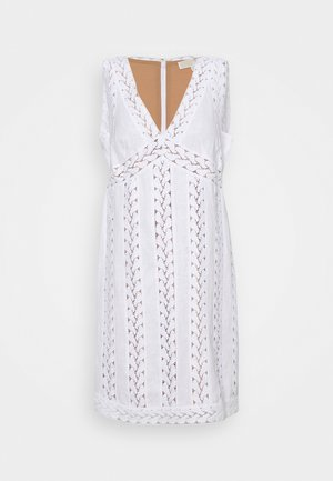 STRIPED ROPE MINI DRESS - Vestito estivo - white