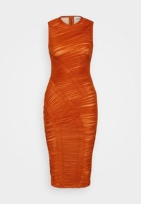 Hervé Léger - ASYMMETRIC DRAPED DRESS - Cocktail dress / Party dress - cognac - 5