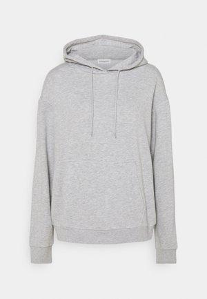 BASIC - Oversized hoodie with pocket - Mikina skapucí - mottled light grey