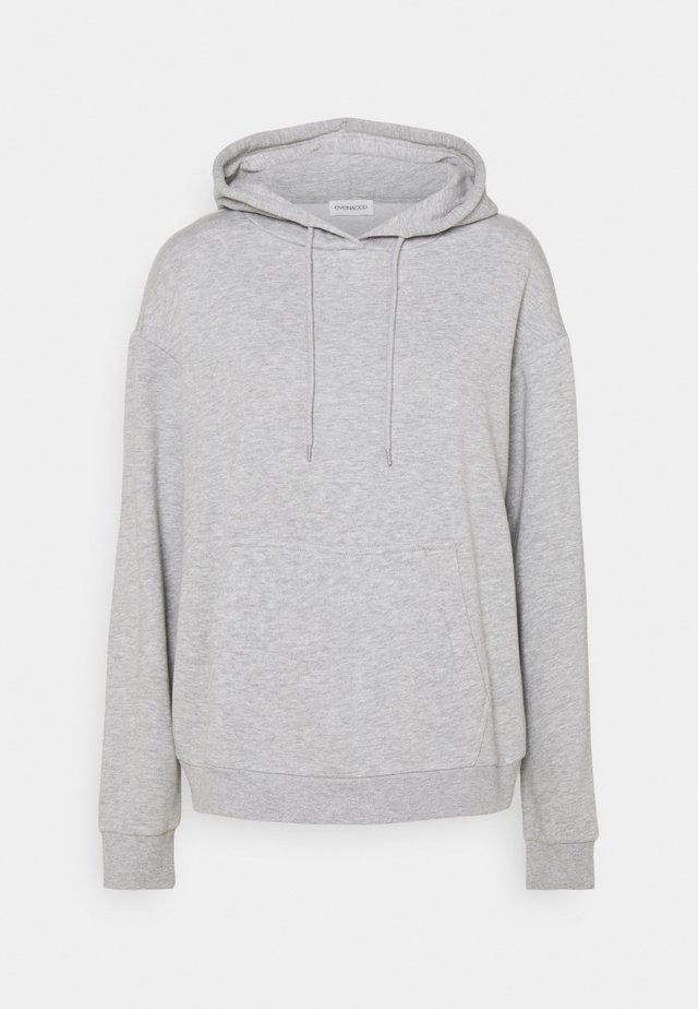 BASIC - Oversized hoodie with pocket - Hoodie - mottled light grey