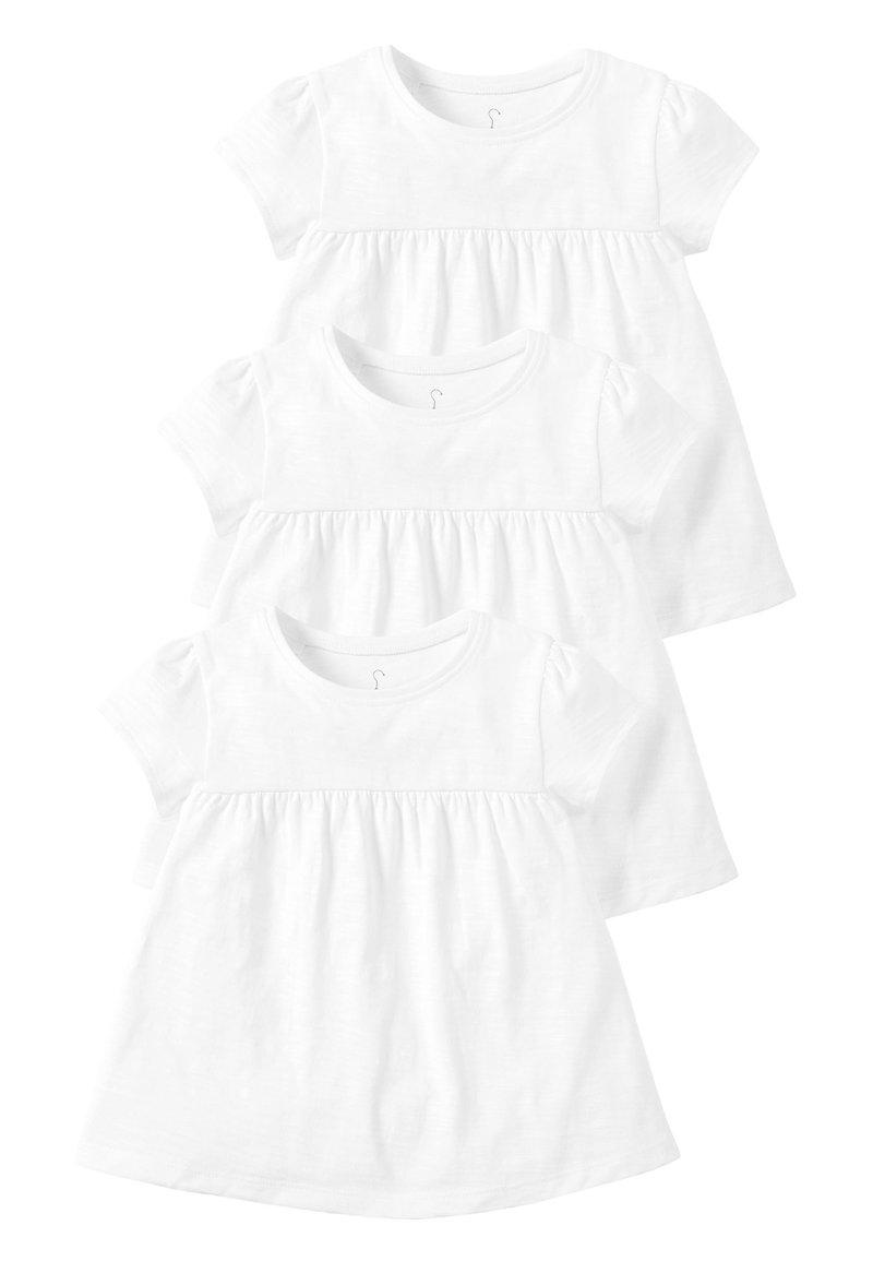 Next - WHITE 3 PACK 3 PACK EMPIRE LINE T-SHIRTS (3MTHS-8YRS) - Print T-shirt - white