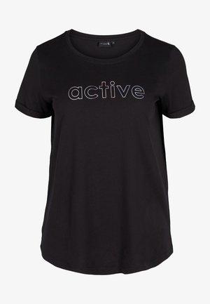 Print T-shirt - black lights active