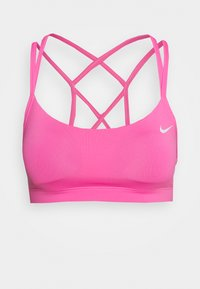 Nike Performance - FAVORITES STRAPPY - Sport BH - pink glow/white - 4