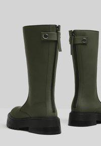 Bershka - Platform boots - khaki - 3