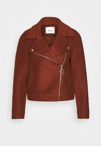 ONLASHA  - Faux leather jacket - fired brick