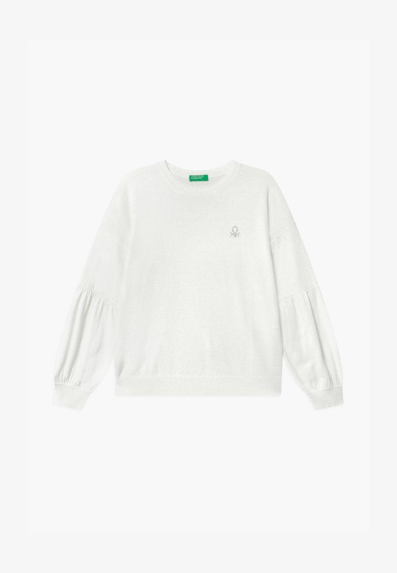 Benetton - BASIC GIRL - Svetr - white