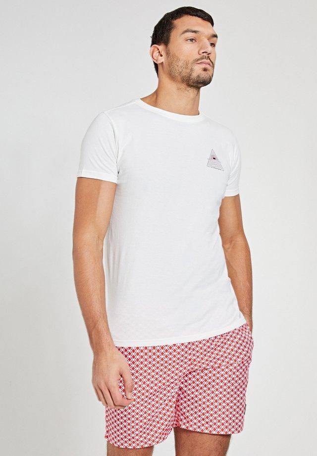 SUNSHINE TRIANGLE - T-shirt imprimé - white antique