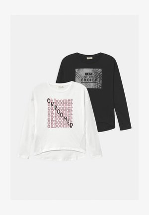 2 PACK - T-shirt à manches longues - bright white/black