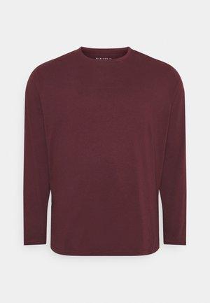 Langærmede T-shirts - bordeaux