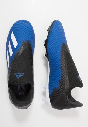 X 19.3 LL FG - Moulded stud football boots - royal blue/footwear white/core black