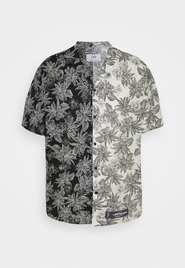 TROPICAL - Camicia - black/white