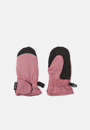 MITTENS SOLID UNISEX - Mittens - dark dusty pink