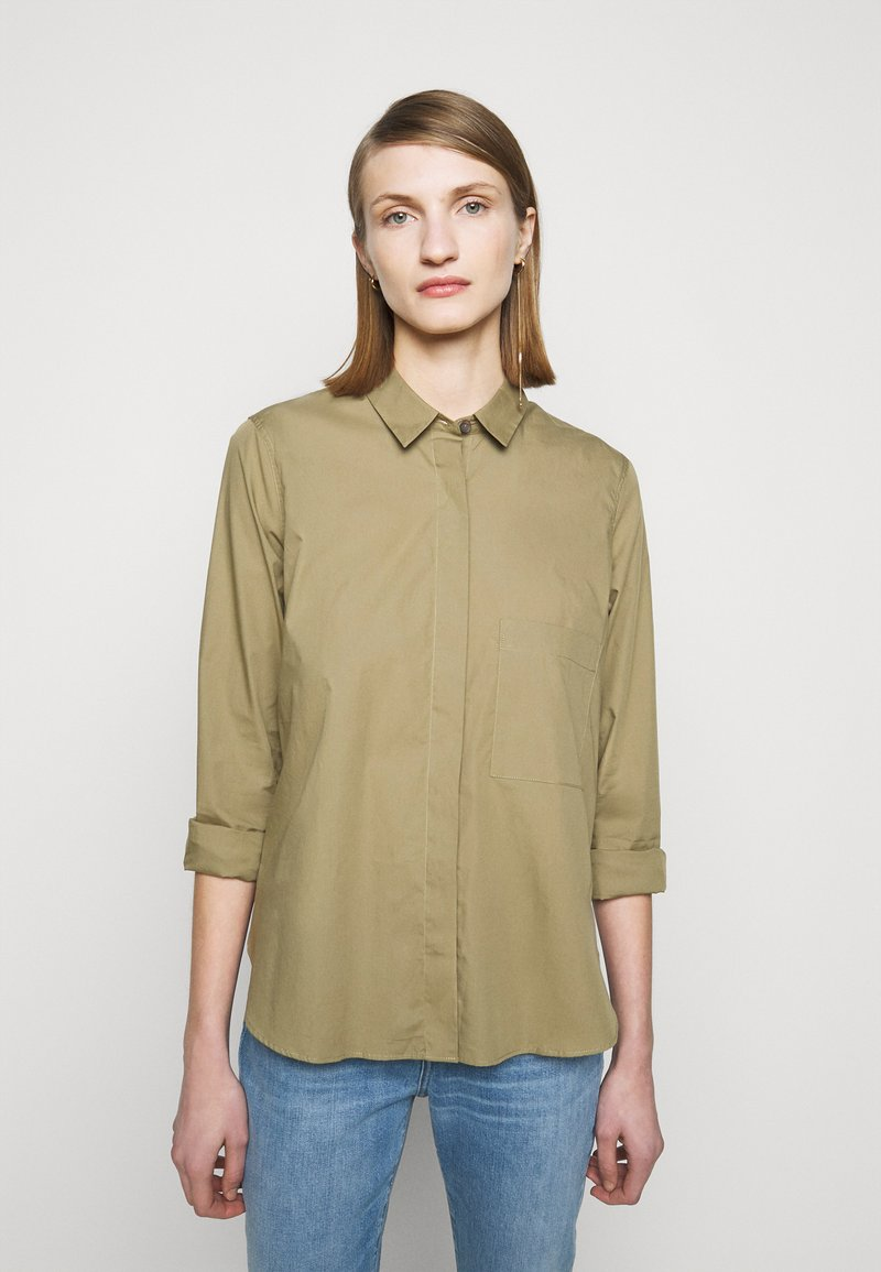 CLOSED - HAILEY - Button-down blouse - green umber