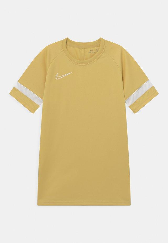 ACADEMY UNISEX - Print T-shirt - saturn gold/white