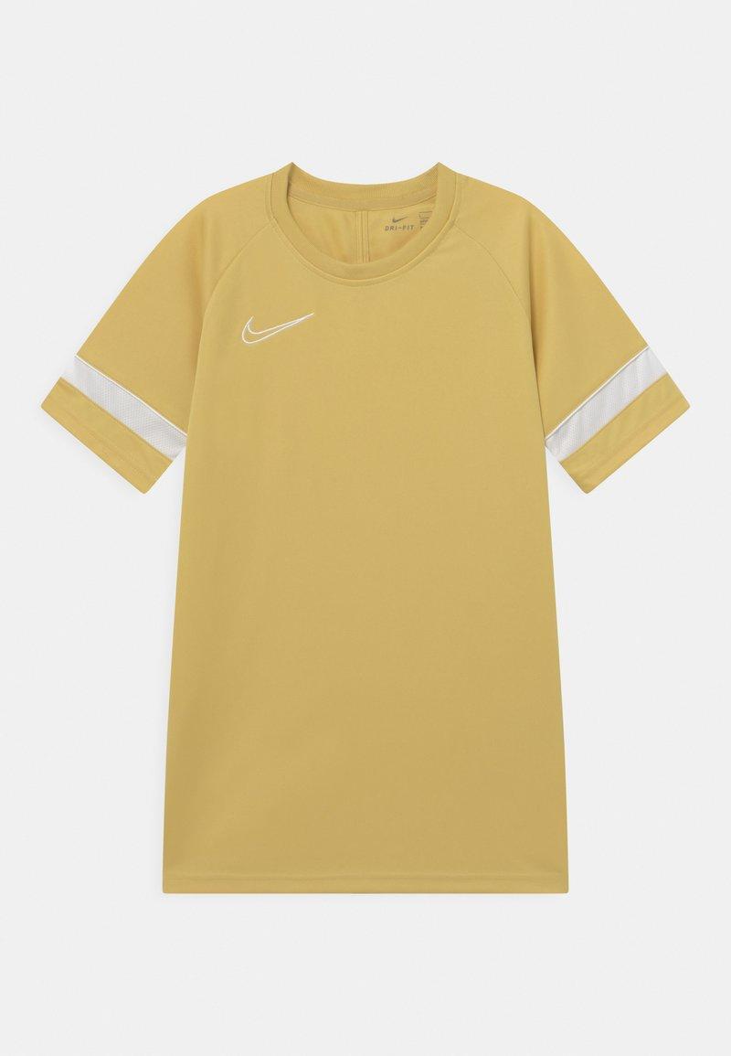 Nike Performance - ACADEMY UNISEX - T-shirt imprimé - saturn gold/white