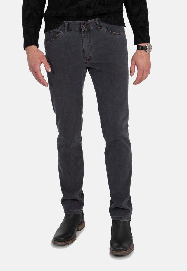 MIT GEKNÖPFTER GESÄSSTASCHE - Slim fit jeans - gray