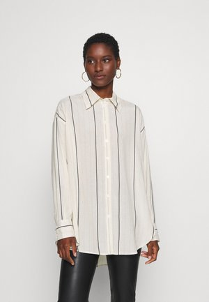 Button-down blouse - off-white/blue