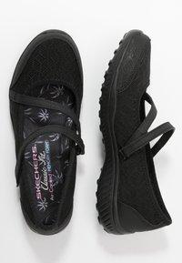 Skechers - BE-LIGHT - Ankle strap ballet pumps - black - 3