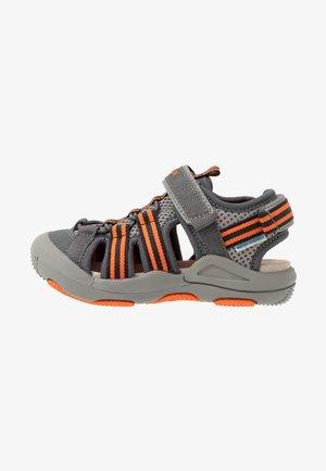 KYLE - Walking sandals - grey/orange
