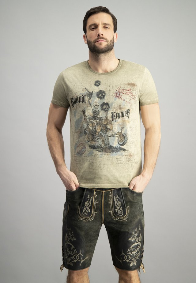 BOANDLKRAMER - Print T-shirt - sand
