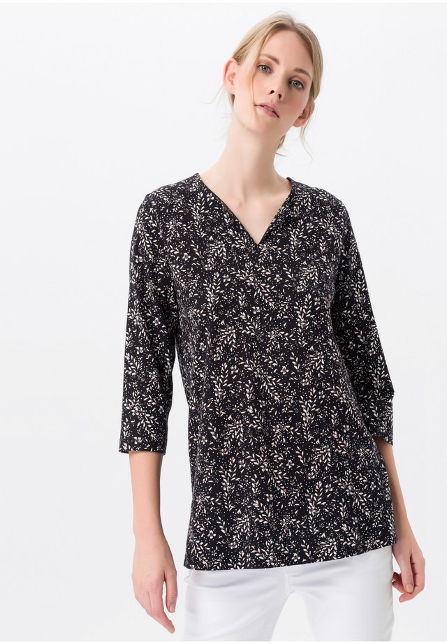 Bluse - schwarz/multicolor