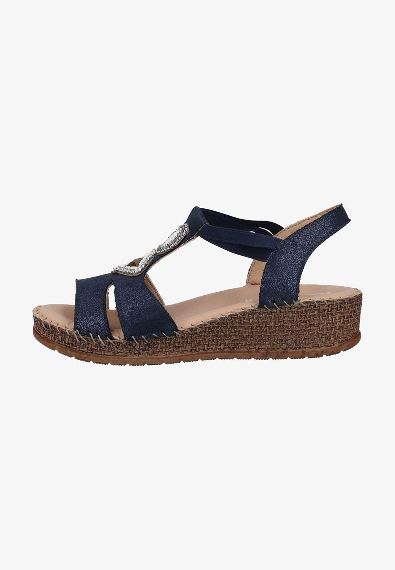 Jenny - Sandalen met sleehak - blue
