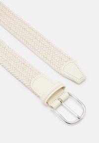 Anderson's - STRECH BELT UNISEX - Braided belt - off-white - 2