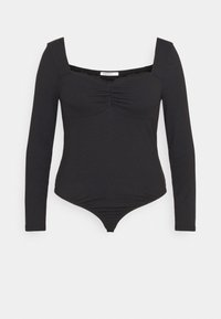 Glamorous Curve - TRIM BODYSUIT WITH LONG SLEEVES - Top - black - 5
