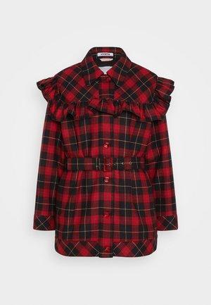 SPORT JACKET CHECK - Short coat - rosso nero