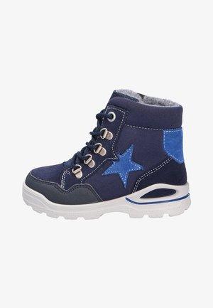 WARMFUTTER LAUFLERNSCHUH - Lace-up ankle boots - dark blue