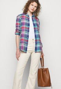 Polo Ralph Lauren - PLAID - Button-down blouse - pink/blue - 4