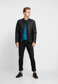 Superdry - COMMUTER QUILTED BIKER - Light jacket - jet black - 1